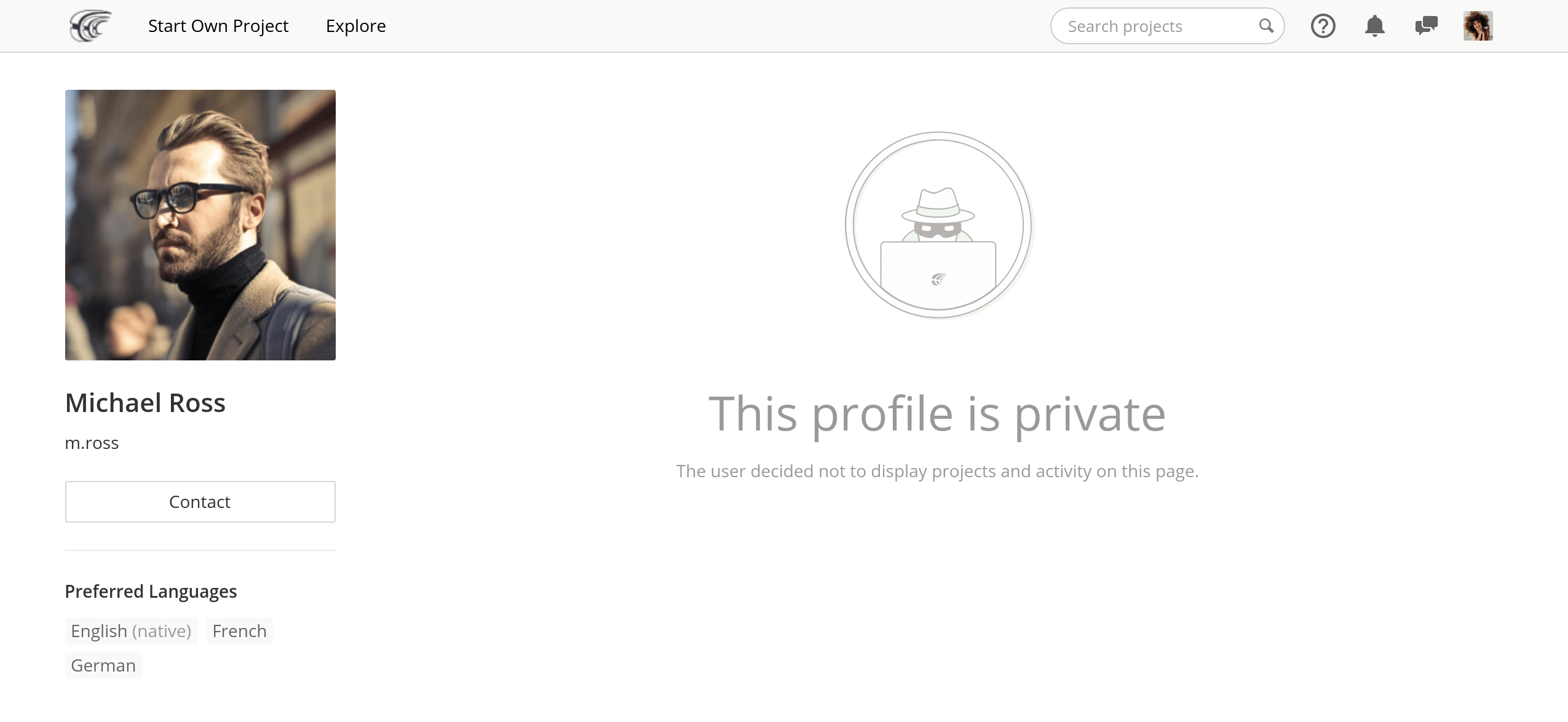 This profile is private
