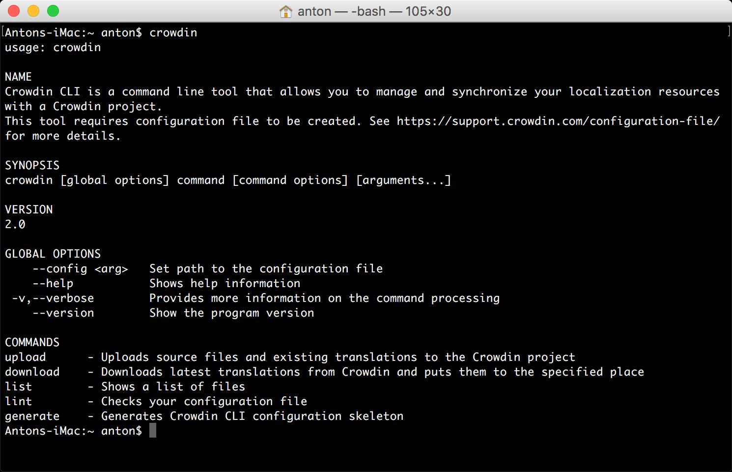 Console Client (CLI) | Crowdin Documentation
