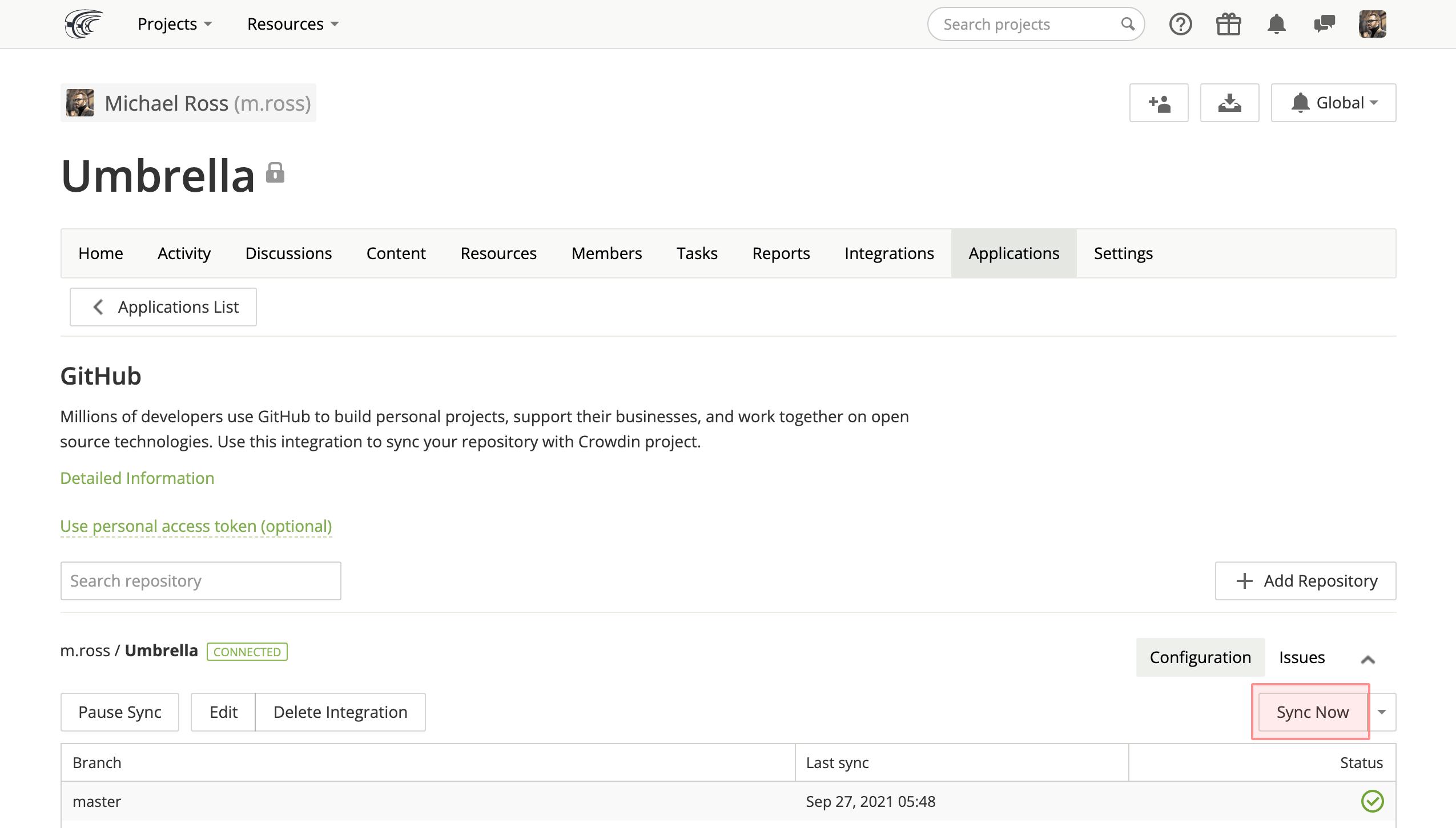 GitHub Integration | Crowdin Documentation