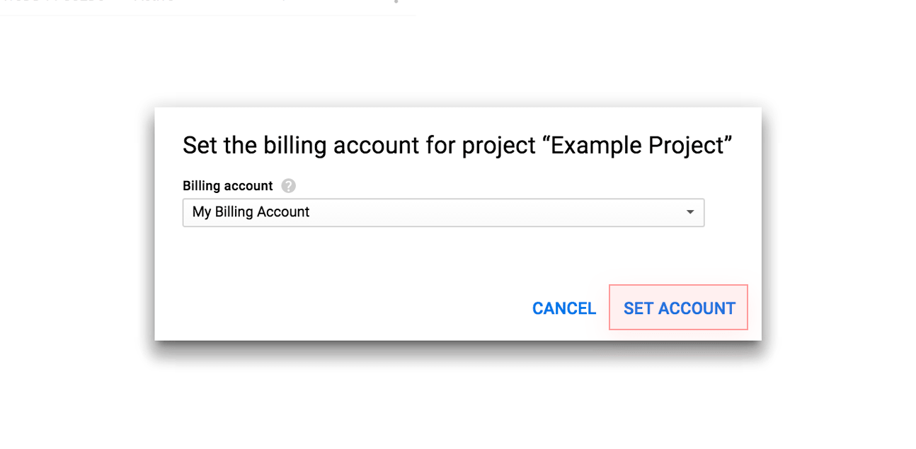 Set the billing account